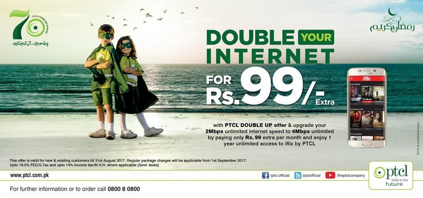 2Mbps to 4Mbps Double Up Offer