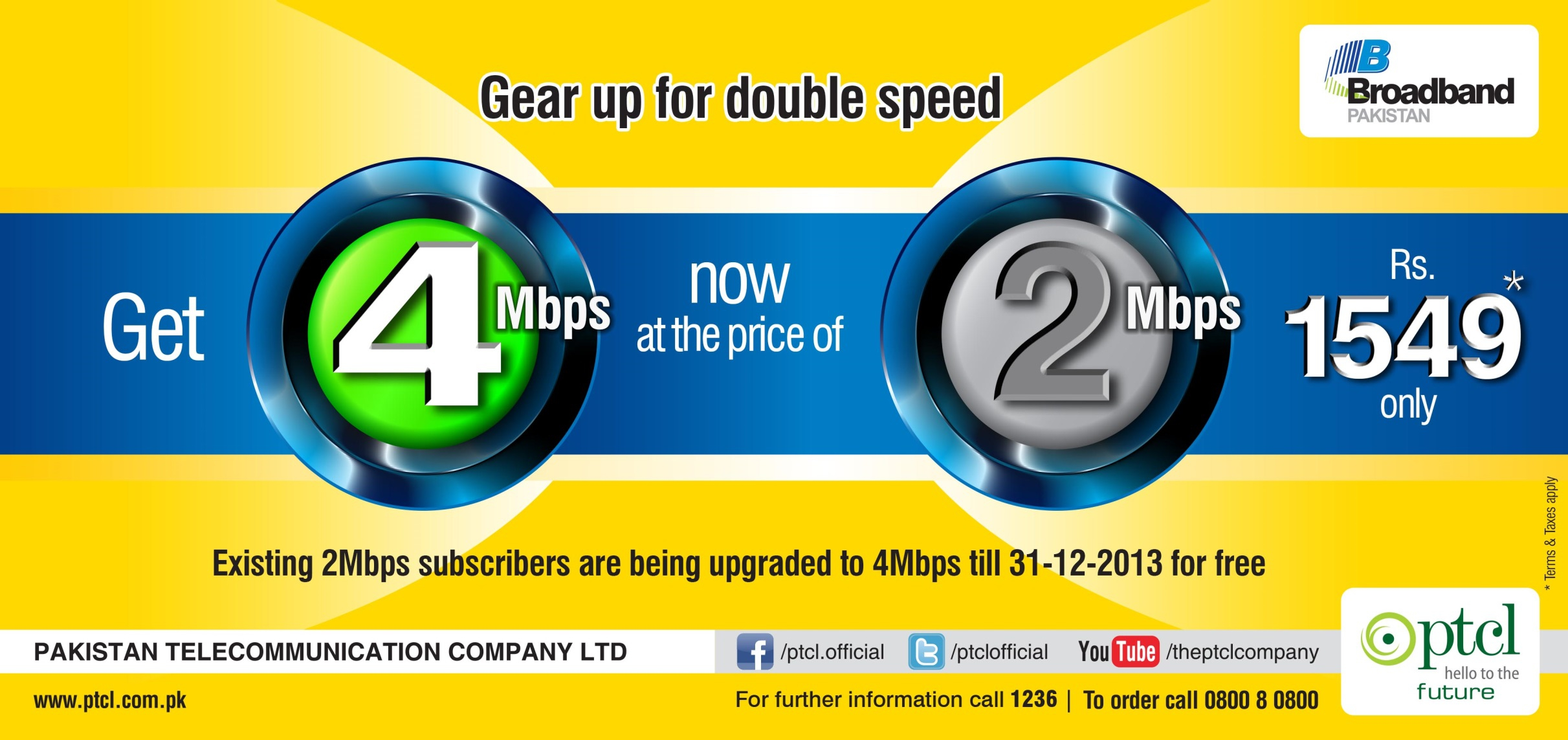 Broadband 2MB to 4 MB