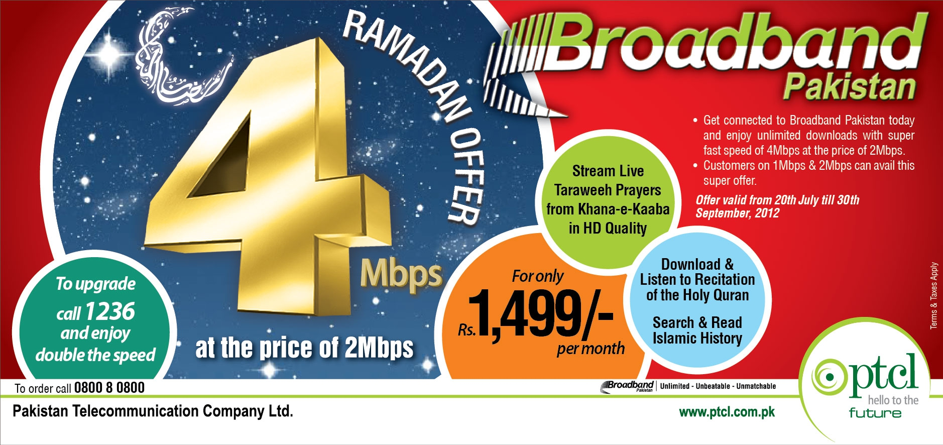 Broadband 4mb Ramazan Package