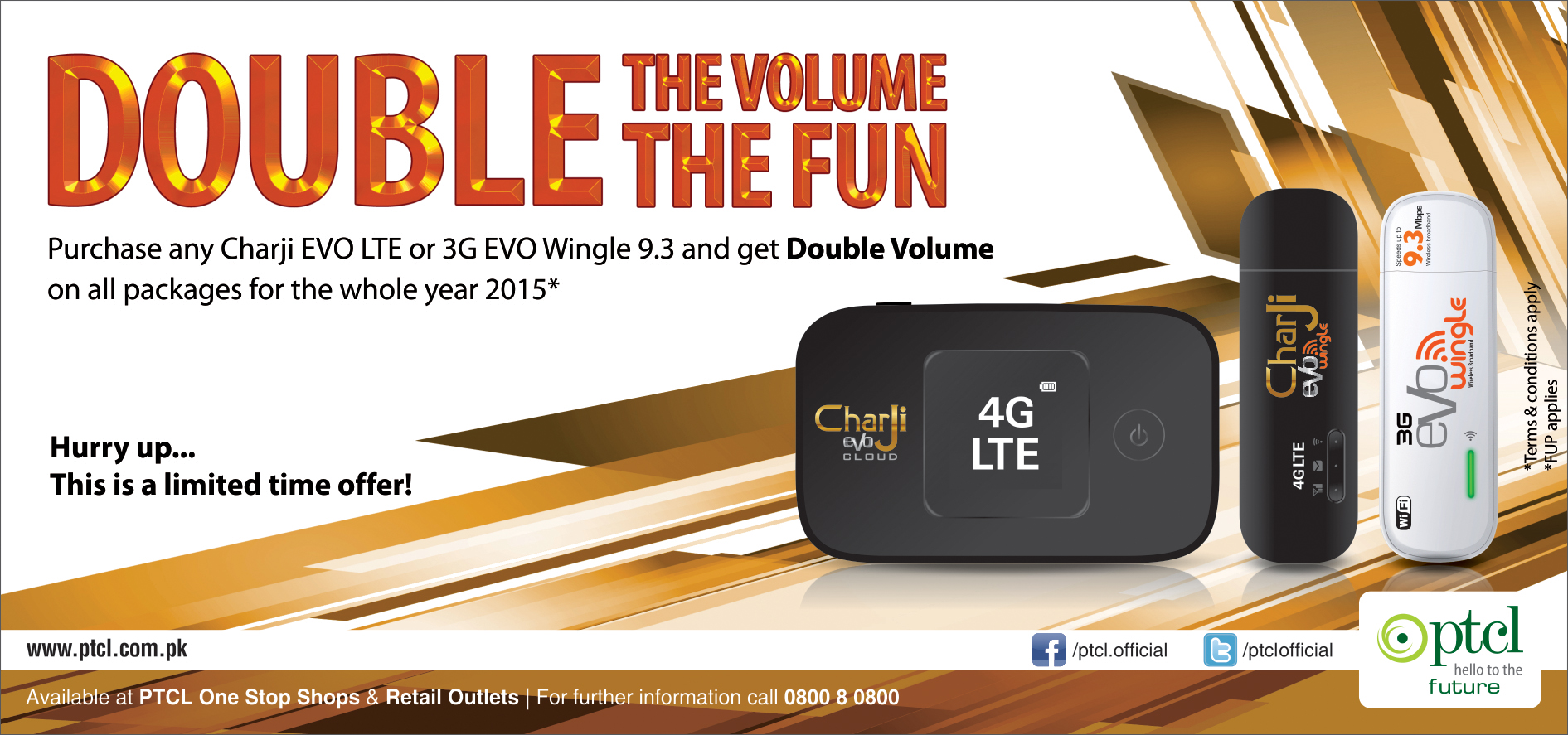 Charji EVO & EVO Wingle Double Volume Offer