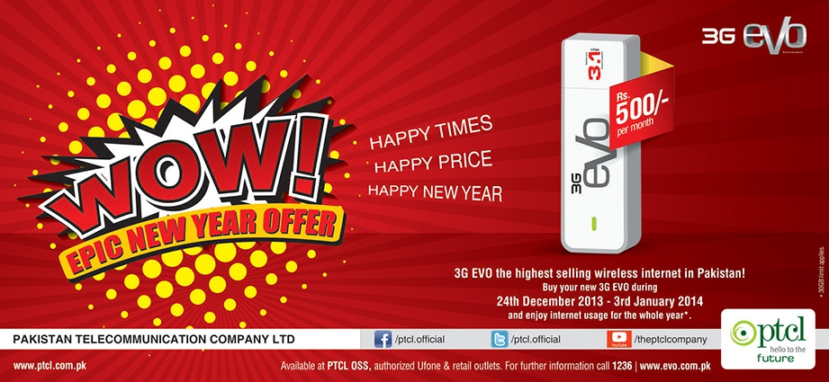 3G EVO 3.1Mbps-EPIC New Year Offer