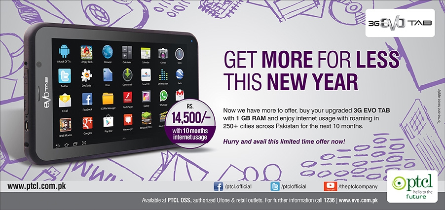 EVO Tab New Year Promotion