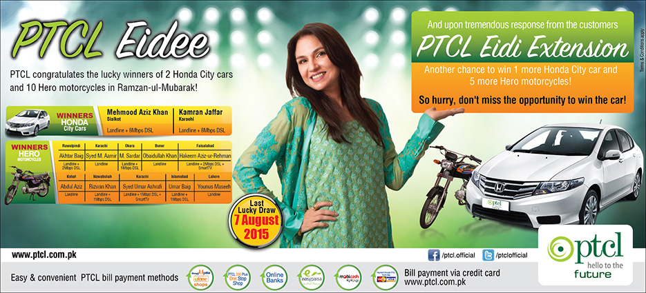 PTCL Eidee Offer Winners & Extension