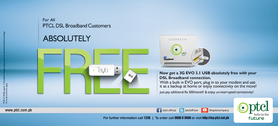 Free EVO USB for all DSL Broadband customers