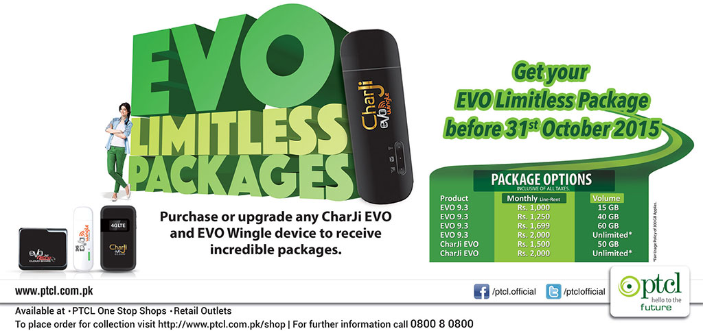 EVO Limitless Packages