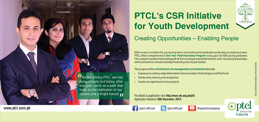 PTCL's CSR Initiative for Youth Development