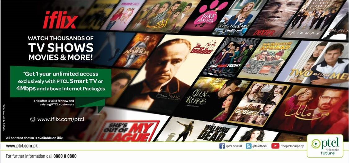 PTCL brings iflix for its Customers