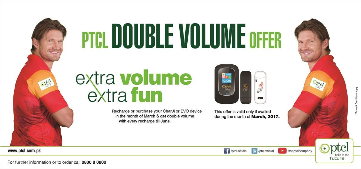 PTCL Double-Volume Offer